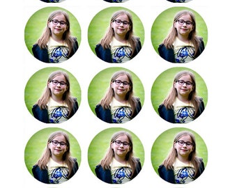 YOUR OWN PHOTO edible Cupcake Toppers x 15 Wafer paper/icing sheet