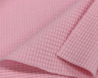 Stretchy Thermal Knit Fabric By The Yard (Wholesale Price Available By The Bolt) USA Made Premium Quality - 7381 Blossom - 1 Yard