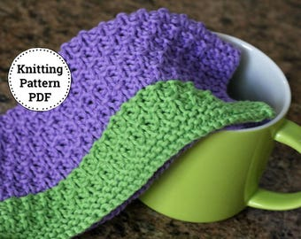 Knitting Pattern | Dishcloth Pattern | Knitted Dishcloth | Ashley
