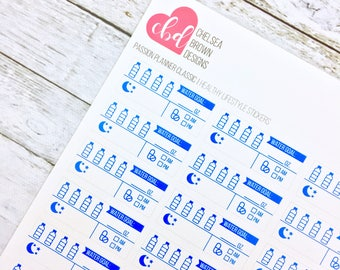 Healthy Lifestyle Planner Stickers | Passion Planner Stickers for the  Classic and Compact Pro Size