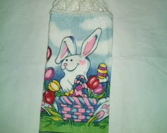Easter Bunny Kitchen Hanging Towel