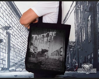 """Tote bag """"they're here"""" fair trade & organic"""