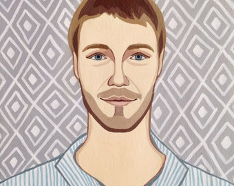Man portrait. Custom portrait. Man illustration.