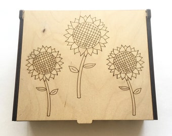 Sunflower Essential Oil Box, 56 Slots, Aromatherapy Storage Box, Essential Oil Case, Oil Holder, Aromatherapy Oil Organizer, Oil Display