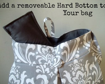 Custom Listing to Add a Removeable Hard Bottom to Your Bag