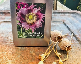 Poppy Garden Collection, Heirloom Poppy Seeds, 4 Seed Varieties in Gift Box, Great Gardening Gift or Gift for Mom, Mixed Poppy Seeds