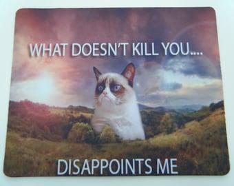 Grumpy Cat Funny Mousepad / Mouse Mat