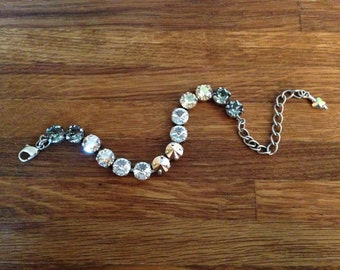 Rock Garden: 8.5mm Swarovski Crystal Bracelet