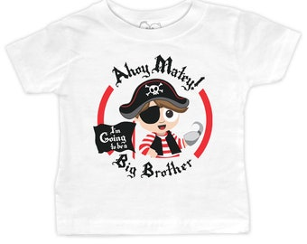 Pirate Big Brother T-shirt - I'm going to be a Big Brother - 18 Month