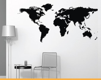 World map decal etsy world map removable wall decal sticker ms039vc gumiabroncs Image collections