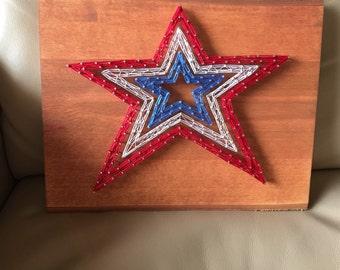 Custom Made-to-Order Roanoke Star String Art