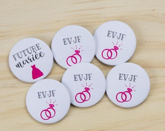 5 badges + 1 bride bachelorette party