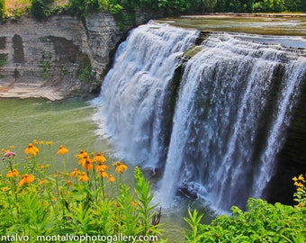 Middle Falls in Letchworth State Park