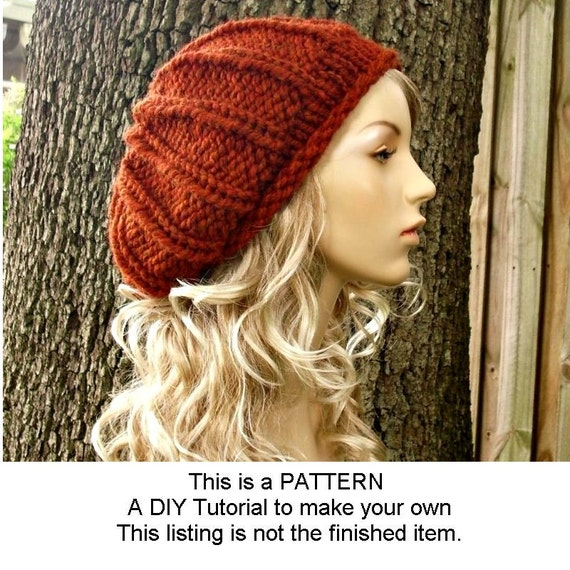 Instant Download Knitting Pattern Knit Hat Pattern For Chunky