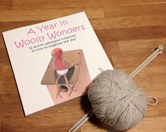 Knitting Book, 'A Year in Woolly Wonders'. Knitting, Creatures, Woodland, Knitting book, Knitted animals