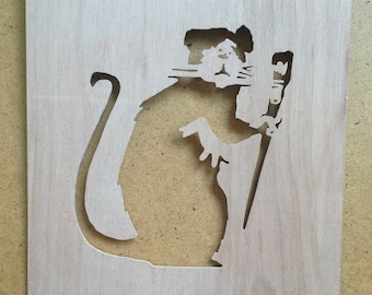 Banksy Rat Painter Stencil