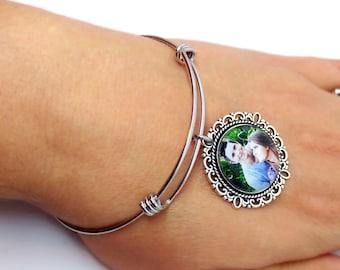 Photo Bracelet / Custom Photo Charm Bracelet / Custom Photo Bracelet / Photo Gift for Grandma / Photo Gift for Mom / Photo Gift for Bride