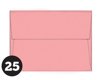 25 Pack Medium Pink Envelopes in A7 size Invitations, Photos, RSVP and Cards, Cotton Candy Pink, Pack of 25