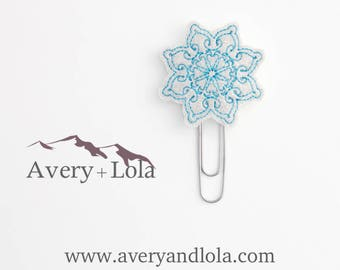 Snowflake Planner Clip l Snowflake Paper Clip | Snowflake Bookmark | Winter Planner Clip | Winter Bookmark | Planner Accessories