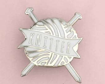Knitter | Knitting Enamel Pin Badge | Knitting Badge | Knitting Enamel Pin | Knitting Gift | Knitting Brooch