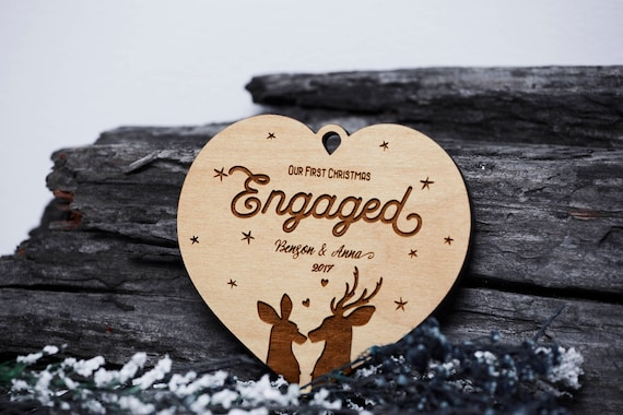 Our First Christmas Ornament Engaged Just Engaged Ornaments