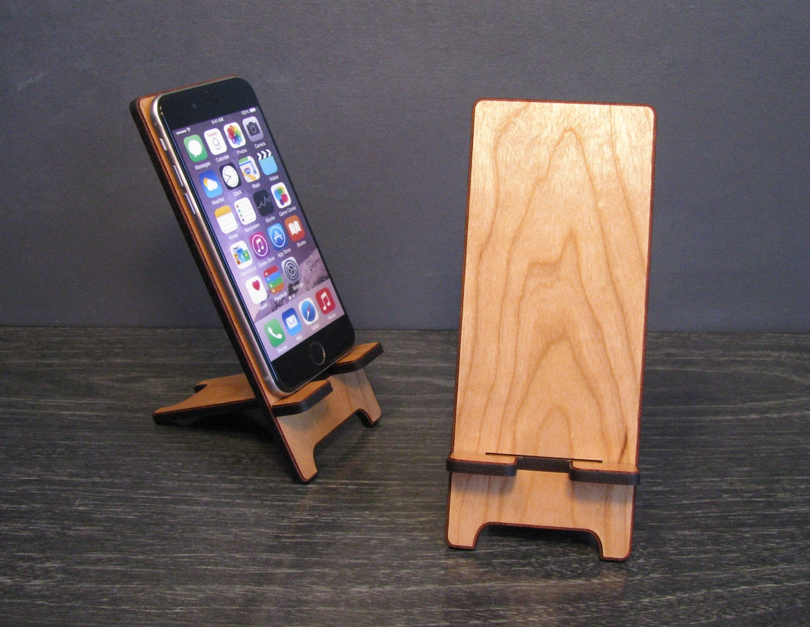 Universal Wood Smart Phone Stand Wooden Docking Station 5