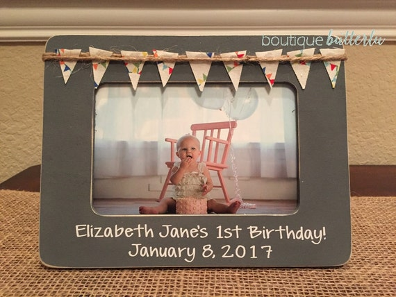 1st Birthday Picture Frame Baby\'s First Birthday Gift Personalized ...