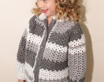 Crocheted Childs Sweater