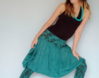 hippie Pants...Mix silk floral colour No.7  (S-L) (427)