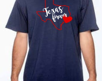 Hurricane Harvey Disaster Relief, Heart, Texas, Forever, Donation, T-shirt