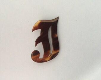 Vintage monogram J brooch