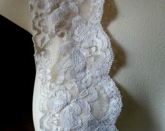 2 yds. NUDE BEIGE Stretch lace  for Headbands, Lingerie STR 12