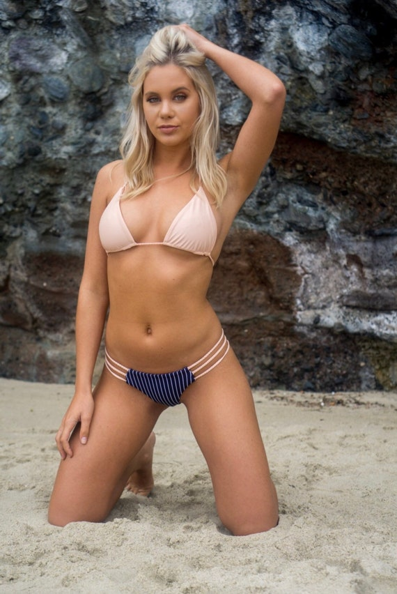 Our Kai Top In Blush, Braided Triangle Top made by SULTRY SWIMWEAR®