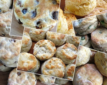 Southern Biscuits, Homemade Biscuits, Large, 1 Dozen, Biscuits, Homemade Bread, Bakery Biscuits