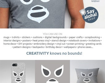 EL SANTO MASK svg, eps, dxf, png, pdf, jpg files • Lucha Libre • Mexican Wrestling Clipart • Silhouette