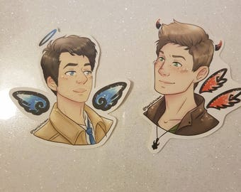 Destiel Angel and Demon stickers