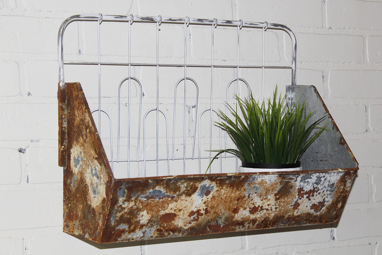 Rustikale Korb Wand-Korb Wandregal rustikale Küche Dekor