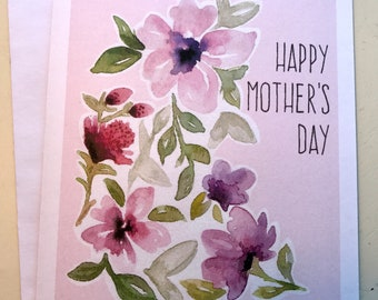Watercolor Floral Mother's Day Note Card Set