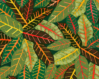 Croton Wallpaper Sample