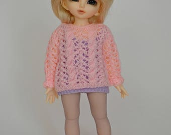 Openwork sweater for Yosd, Littlefee, 1/6 Bjd dolls.