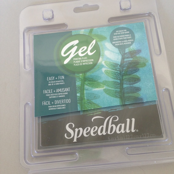 """Gel Plates  5"""" x 5"""" by speedball Mono printing plate great for polymer clay, paper and fabric printing get in on the Gelli plate craze."""