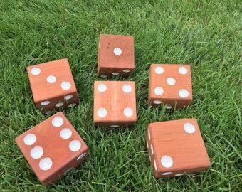 Yard Dice, Lawn Dice, Outdoor Games, Yahtzee, Yardzee, Farkle, Jumbo Dice, Family Game, Yard Games, Reception Games, Party Games