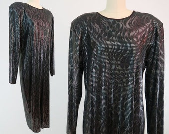 FRANCES LA VIE Deadstock Snakeskin Dress / Designer 1980s Evening Dress