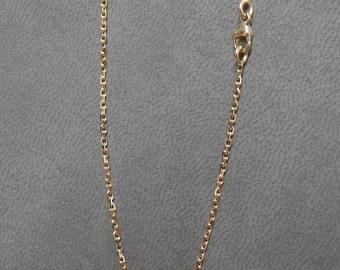 Chaîne forçat limée 1.4 mm or rose 750/1000 en 42 cm avec mousqueton.