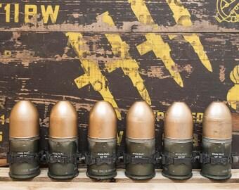 6 - Inert 40mm MK-19 Linked Grenade Rounds