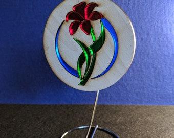 Acrylic/Poplar Flower Sun Catcher