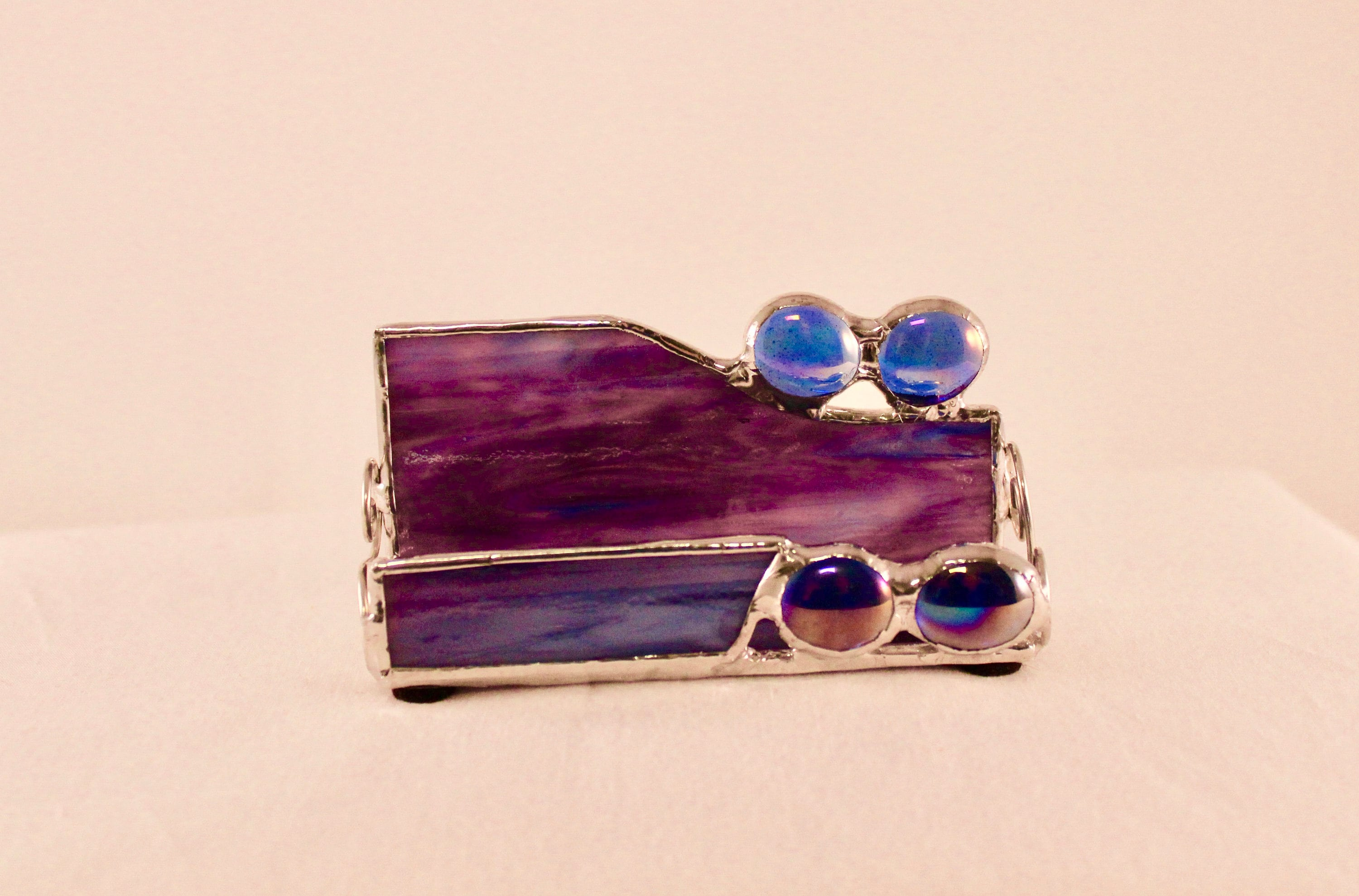 Stained Glass Business Card Holder - Business Card Holder - Office ...