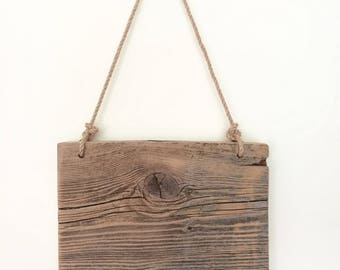 Hangable Reclaimed Wood Wall Art, Reclaimed Wood Art, Barn Wood Wall Art, Reclaimed Wood Sign, Blank Wood Sign
