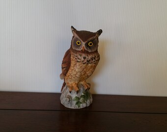 Vintage Owl by Andrea #9339 Figurine - 7 inch Tall, Made in Japan. Very good condition