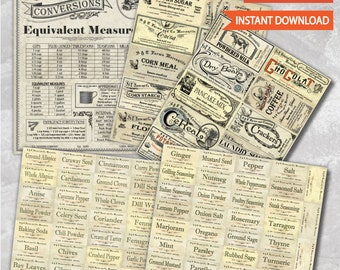 Vintage Pantry Labels Collection- Save .98!
